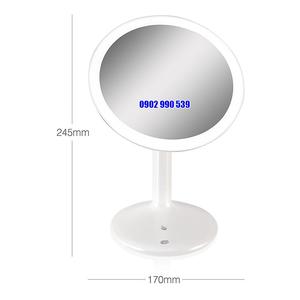 Gương trang điểm tròn có đèn Led Rio