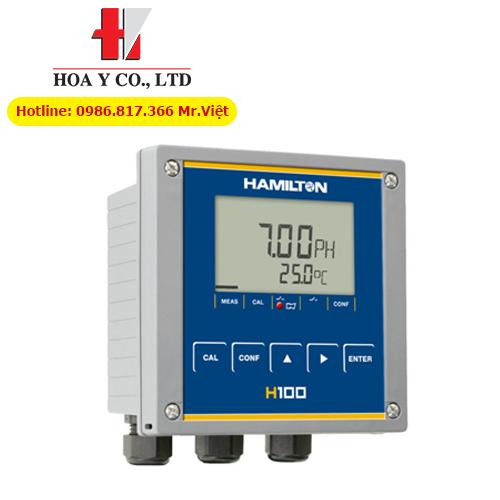 Hệ thống điều khiển đo pH, ORP (mV) và nhiệt độ online Hamilton Transmitter H100 pH