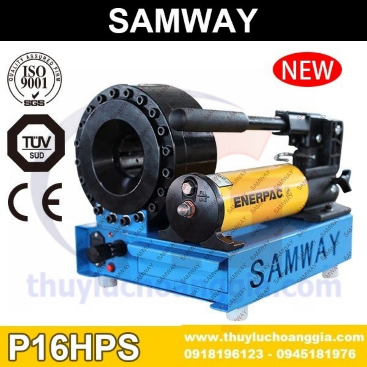 MÁY BÓP ỐNG THỦY LỰC SAMWAY P16HPS