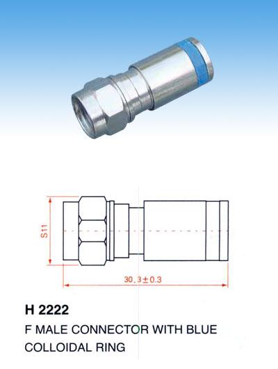 GIẮC F5- RG6 ( GIẮC NÉN): H2222