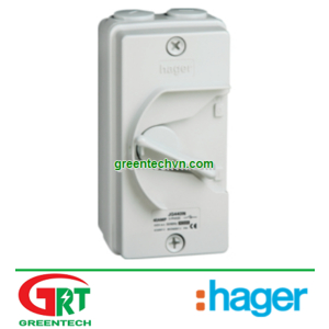 Hager AD620B | 32A 2 pole with switched neutral 415V | Cầu dao cách ly Hager AD620B | Hager Vietnam