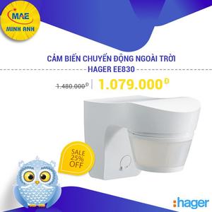 Hager EE830 - Cảm Biến Chuyển Động Ngoài Trời