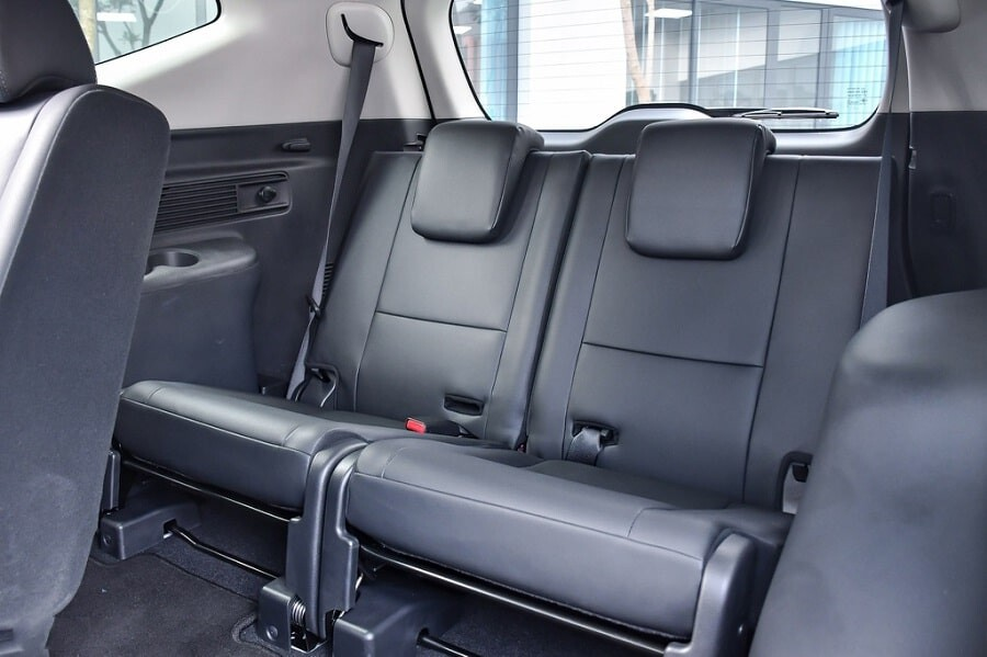 Hàng ghế thứ 3 trên xe Mitsubishi Pajero Sport 2020