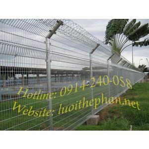 Hàng rào lưới bẻ hai đầu nghiên 45 độ - TTR45