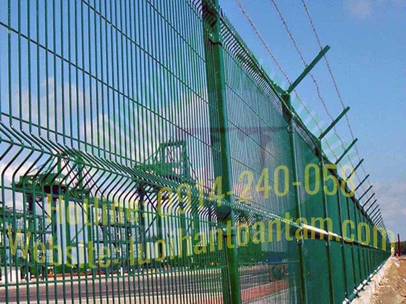 Hàng Rào Lưới Thép Hàn - Nhúng Kẽm - Hàng Rào Lưới Thép Mắt Cáo