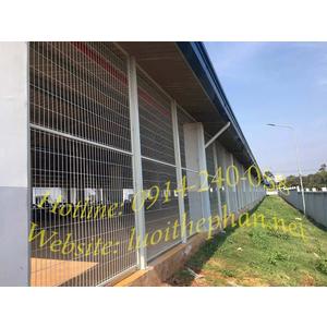 Hàng rào lưới thép trơn thẳng hàn khung - TTFUnI