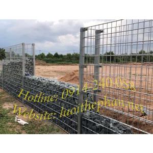 Hàng rào lưới thép hàn rọ đá