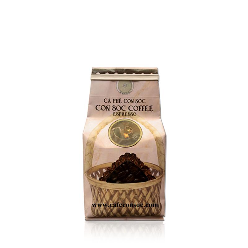 Cà phê hạt Con Sóc Espresso - 200gr