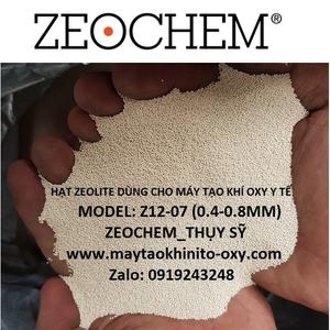 HẠT ZEOLITE DÙNG CHO MÁY OXY Y TẾ Z12-07 (0.4-0.8 MM)