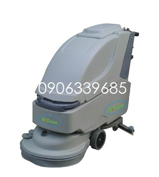 Máy lau sàn HC 550BT sử dụng Acquy