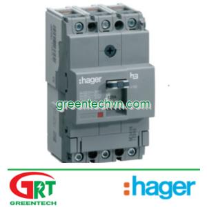MCCB Hager HDA040Z   Cầu dao đóng/cắt Hager HDA040Z   MCCB 3P 40A 18KA - TM FIX/FIX