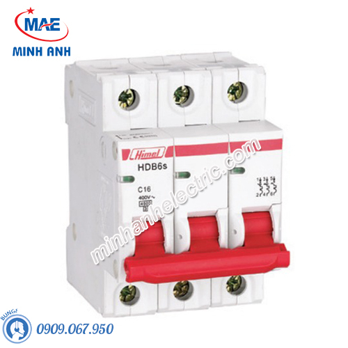 MCB 3P 16A 6kA - Model HDB6SN3C16