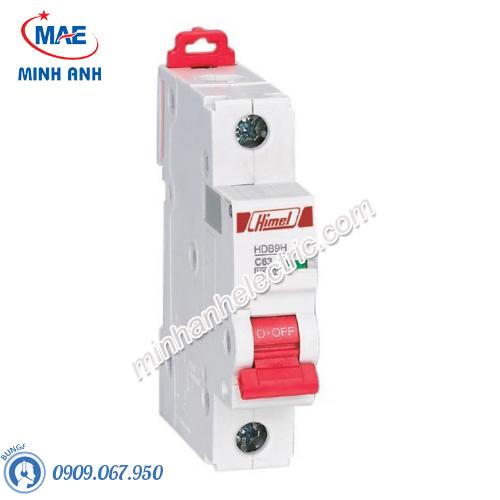 MCB 1P 50A 10kA - Model HDB9H631C50