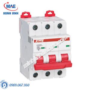 MCB 3P 50A 10kA - Model HDB9H633C50