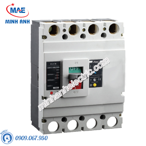 ELCB 4P 250A 300mA 50kA Type M - Model HDM1LE400M2504TA
