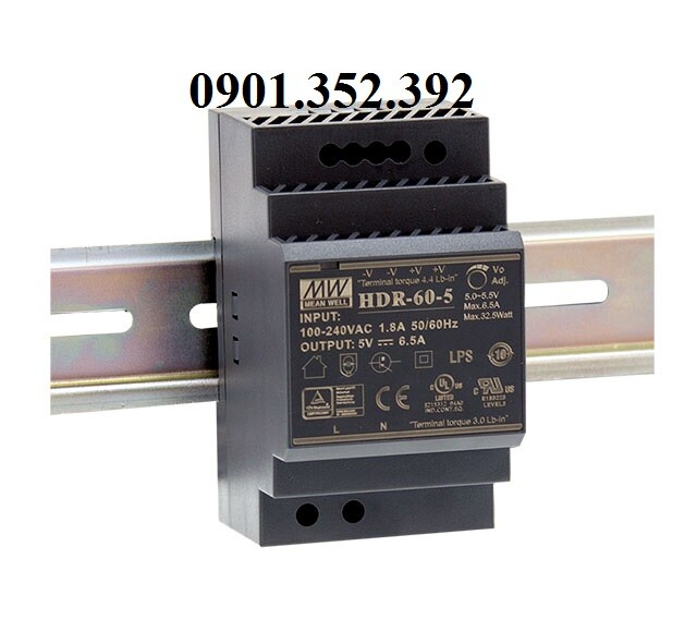Nguồn Meanwell HDR-60-5