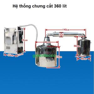 Hệ thống chưng cất đa dụng 360 lít