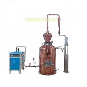 Hệ thống chưng cất tinh dầu đồng thau 150 lít kèm nồi hơi