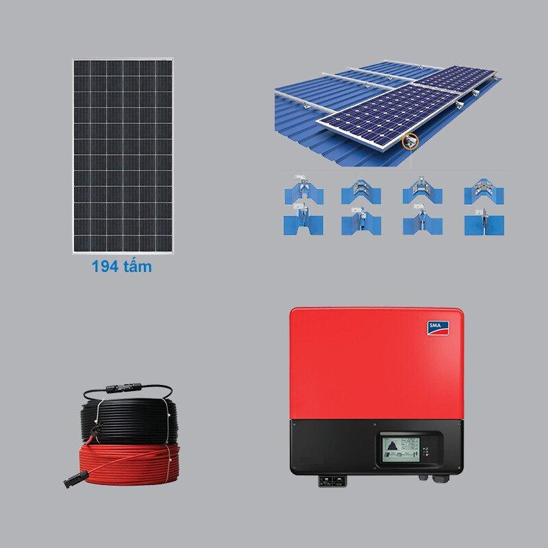 Hệ Thống Điện Mặt Trời 75.66 kWp 3 Pha