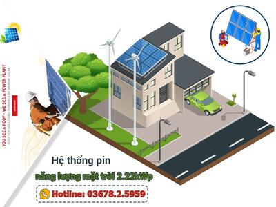 Hệ thống điện mặt trời hòa lưới 2.22kWp