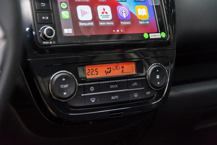 Hệ thống điều hòa tự động xe Attrage bản CVT Premium