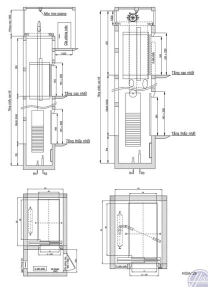 Hệ thống thang tải giường bệnh