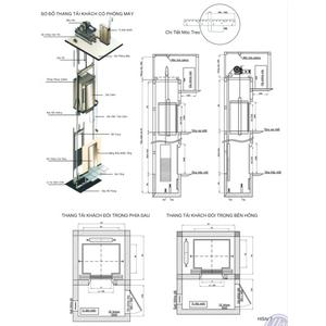 Hệ thống thang tải khách loại có phòng máy