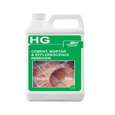 HG cement, mortar efflorescence remover 2L TẨY Xi măng / Vữa / Chất tẩy gạch màu, gạch lát nền