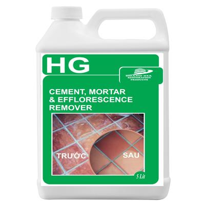 HG cement, mortar efflorescence remover 5L TẨY Xi măng / Vữa / Chất tẩy gạch màu, gạch lát nền