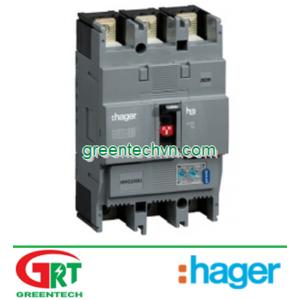 HHB200Z | Hager HHB200Z | MCCB 3P 200A 25KA - TM FIX/FIX | Cầu dao tự động MCCB 3P 200A 25KA