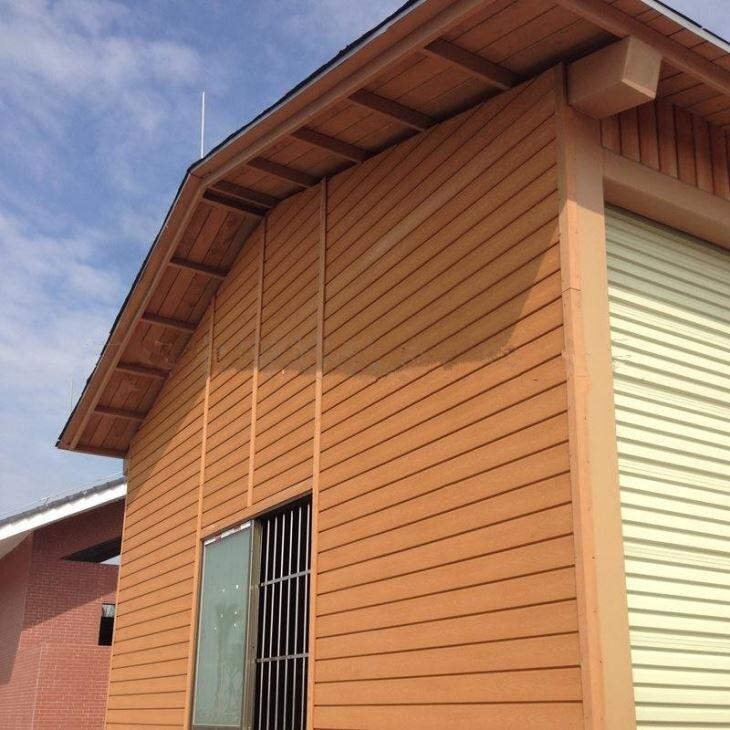 Ốp tường ngoại thất gỗ nhựa