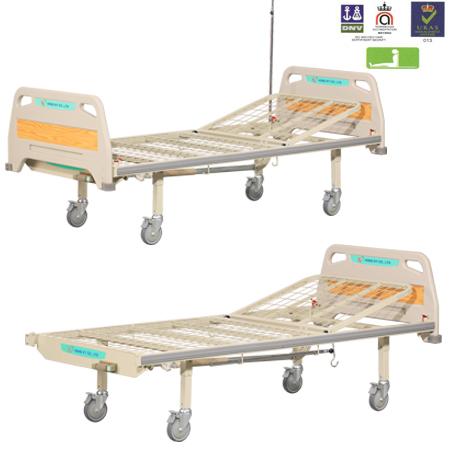 Giường y tế 1 tay quay không lan can Hồng Kỳ HK-9004