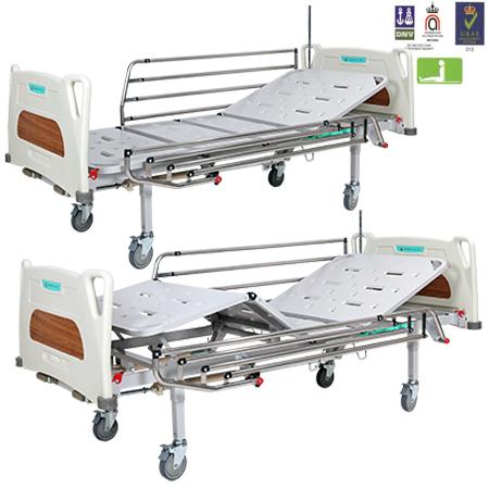 Giường y tế 2 tay quay Hồng Kỳ HK-9016