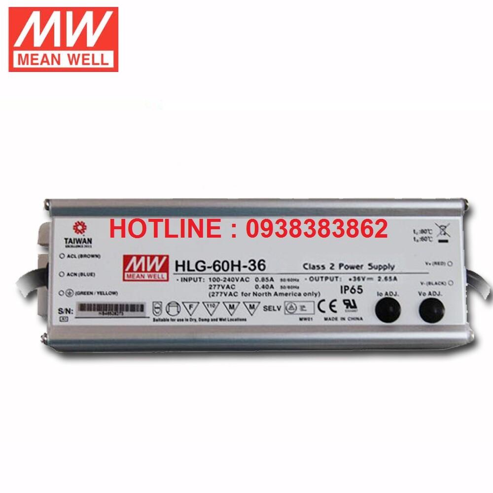 Bộ nguồn Led Meanwell HLG-60H-24B, HLG-60H-36B, HLG-60H-48B