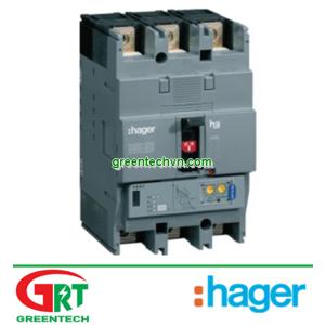 HNH100U | Hager HNH200U | H250 breaker 3P 200A 25kA TM HHG200U Hager | Cầu dao tự động