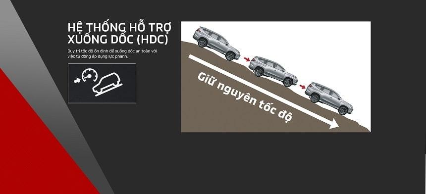 Hỗ trợ đổ đèo HDC của Pajero Sport