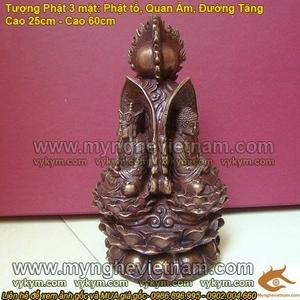 Hoa đài Tam tôn - tượng Quán âm Bồ Tát, Tượng Phật Tổ, Địa Tạng Bồ Tát