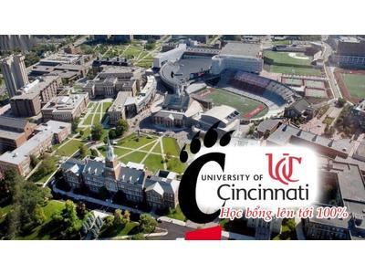 Học bổng lên đến 100% từ Đại học Cincinnati – top 20 trường co-op/internship