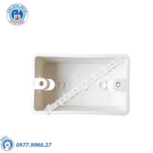 Hộp âm nhựa trắng, đơn - Model NPCA101V