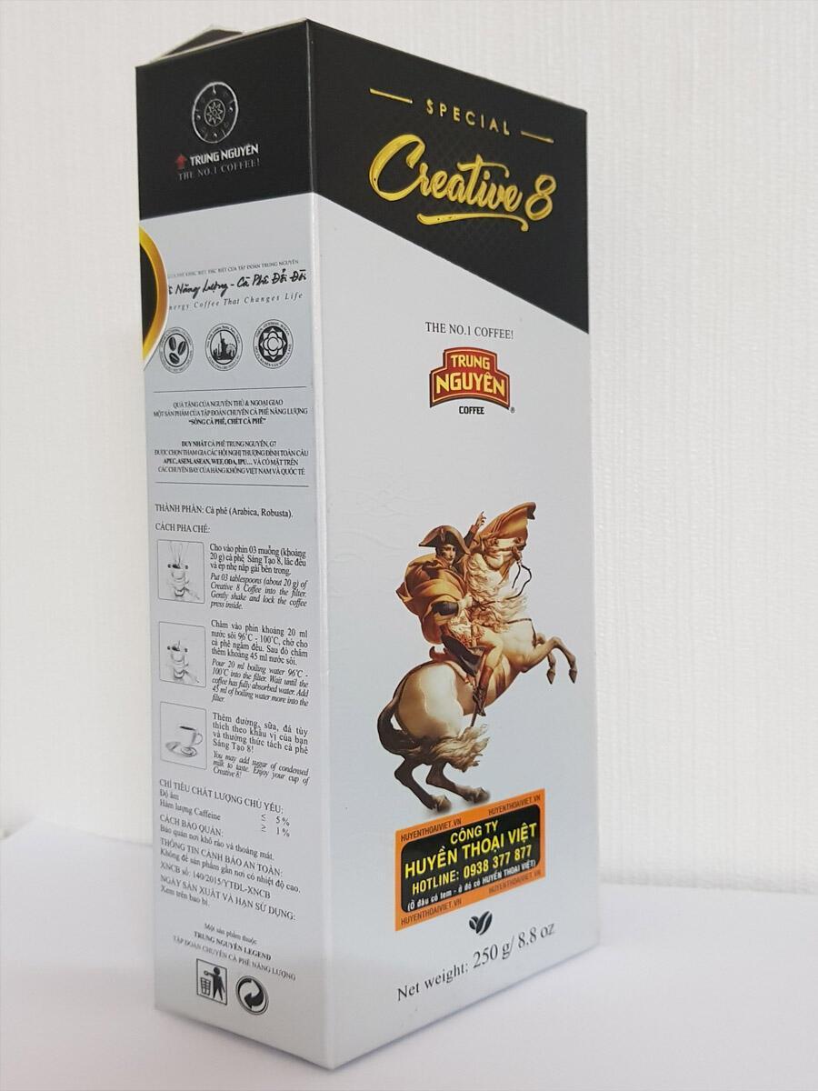 Hộp cà phê SÁNG TẠO 8 - 250gam - MỚI