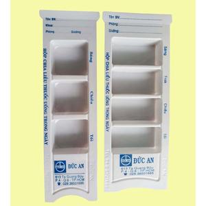 Hộp chia liều thuốc uống trong ngày (3 ngăn hoặc 4 ngăn) Đức An