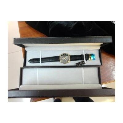 Hộp đựng đồng hồ đeo tay dây da dài không chữ