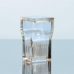 Hộp nhuộm lam loại Hellendahl miệng rộng thủy tinh soda-lime - DURAN