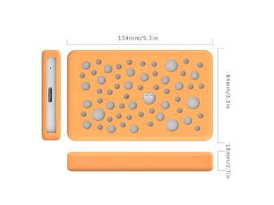 Hộp ổ cứng 2.5 SSD/HDD SATA 3 USB 3.0, hộp đựng ổ cứng chống sốc