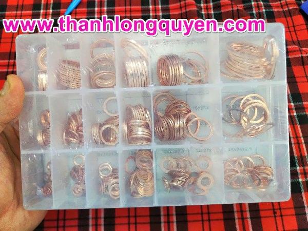 Hộp ron đồng gioăng đồng 350 cái impa 813080