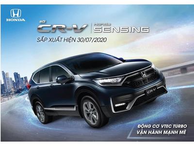 Honda CR-V 2020 có Honda Sensing, ra mắt ngày 30/7 tới.