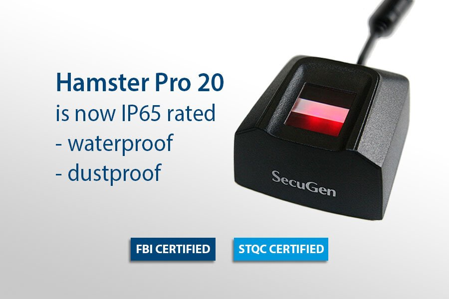 SecuGen Hamster Pro 20, đầu đọc vân tay chất lượng cao, chống bụi, chống nước