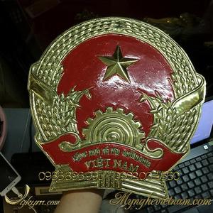 Quốc huy việt nam bằng đồng đk 30cm