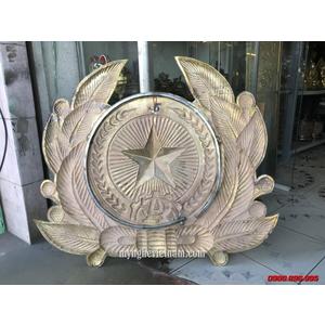 Sản xuất công an hiệu bằng đồng 70x80cm