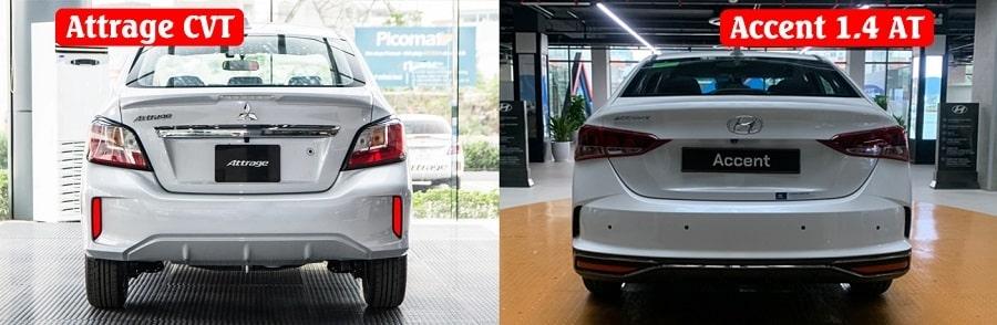 Hyundai Accent 1.4 số tự động tiêu chuẩn và Attrage CVT Premium
